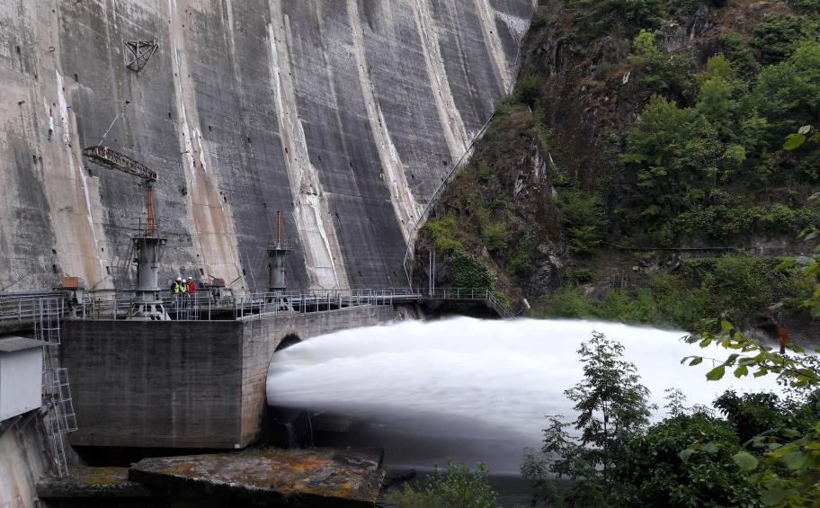 Eiffage Métal sur le barrage de Marèges