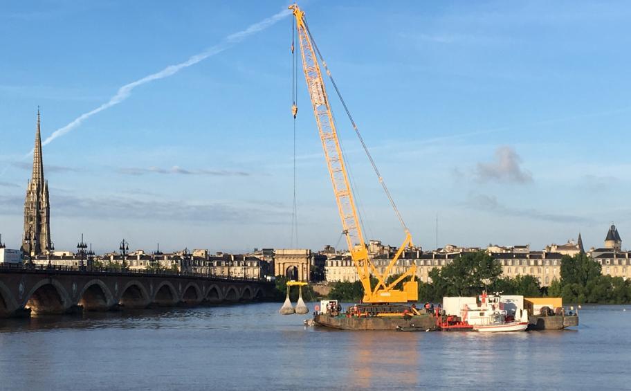 ETMF a démarré les travaux de confortement du pont de pierre à Bordeaux
