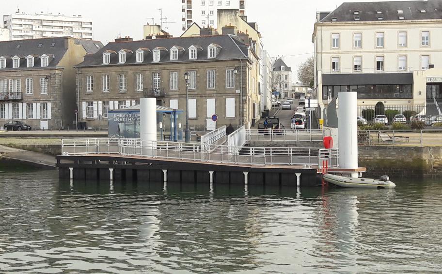 ETMF livre l'embarcadère Transrade à Lorient en 3 semaines