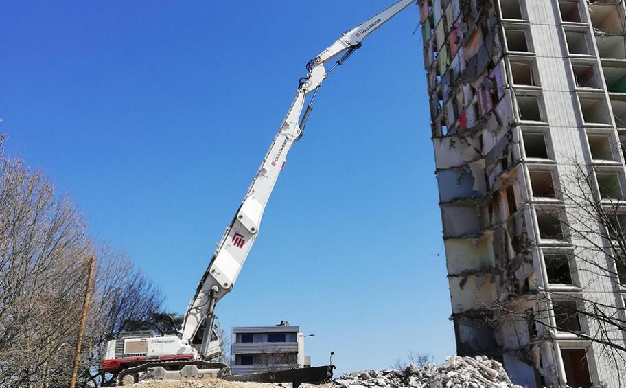 Romans-sur-Isère : démolition de la tour Balzac