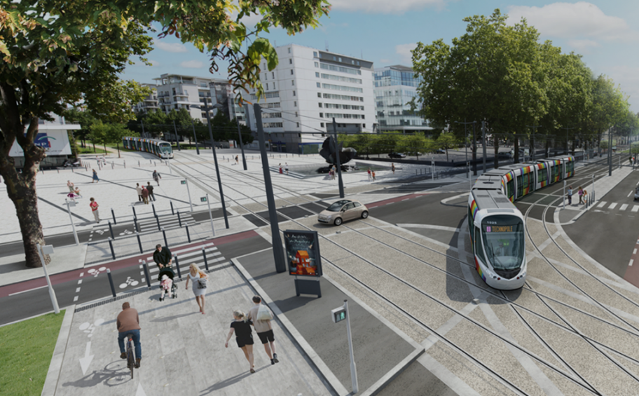 Angers : le tramway prend forme
