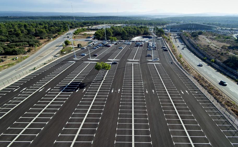 eiffage route a r alis en 3 mois le parking de 1 320 places de la gare tgv d aix en provence. Black Bedroom Furniture Sets. Home Design Ideas